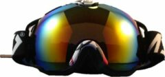 Improducts Skibril met lens blauw / rood / geel evo frame rood / wit X type 10 - ☀/☁