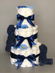 Marineblauwe Chouette-Chouette Luiertaart Beren Navy donker Blauw