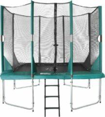 Etan Hi-Flyer Combi Trampoline set - 281x201 cm - incl. Veiligheidsnet - Uv-bestendig Randkussen - Groen - Rechthoekig
