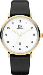 Gouden Danish Design watches edelstalen herenhorloge Yukon Gold White Large IQ11Q1216