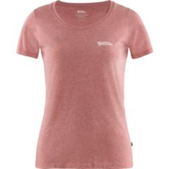 Donkerrode Fjällräven Fjallraven Logo Outdoorshirt Dames - Raspberry Red-Melange - Maat S