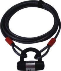 Zwarte Doublelock kabelslot 5 meter dikte 10 mm