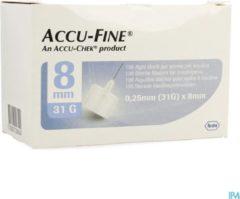 Accu-check Accu-Fine 0,25mm(31G)x 8mm 100 Stuks