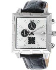 Dynamic24 Design Echt Leder Herren Armbanduhr Quarz Luxus Uhr Chronograph Watch schwarz