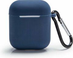 Silvergear Apple AirPods Hoesje - Blauw - Bescherming Case - Siliconen - Voor Apple AirPods en AirPods 2