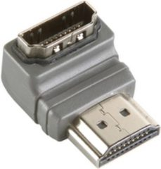 Bandridge High Speed HDMI met Ethernet Adapter 270° Gehoekt HDMI-Connector - HDMI Female Grijs
