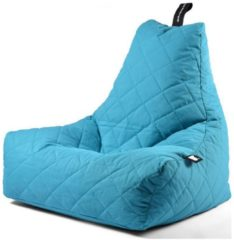 Donkerblauwe B-bag extreme lounging Extreme Lounging B-Bag Mighty-B Zitzak Quilted - Aqua