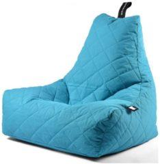 Donkerblauwe B-bag extreme lounging Extreme Lounging B-Bag Mighty-B Zitzak Quilted - Aqua