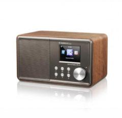 ALBRECHT DR 47X Internet/UKW -Radio, Walnussholz, WLAN, verschiedene Farben Farbe: Braun