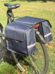 Merkloos / Sans marque Dubbele fietstas blauw