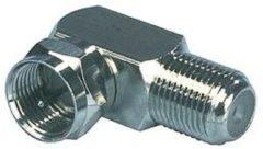 Zilveren Valueline Konig Haakse adapter f-connector mannelijk - f-connector vrouwelijk