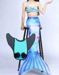 Blauwe Sas Fins Zeemeermin staart set  Mermaid staart, Bikiniset en Monovin   Sky maat 110