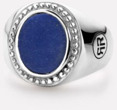 Donkerblauwe Rebel and Rose RR-RG016-S Ring Women Oval Lapis Lazuli zilver-blauw Maat 45