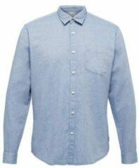 ESPRIT regular fit overhemd van biologisch katoen lichtblauw