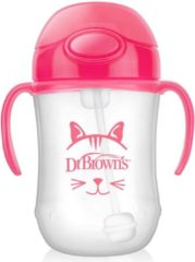 Roze Dr. Brown's Dr Brown's 270ml Baby Straw Cup Pink