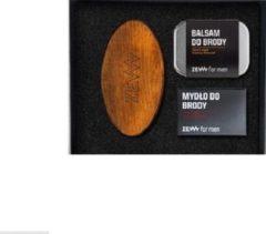 Zew For Men Zadbany Brodacz Zestaw Balsam Do Brody 80ml + Myd?o Do Brody 85ml + Szczotka Brodacza Do Profesjonalnej Piel?gnacji Zarostu (m)