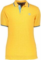 Gouden State of Art Poloshirt piqué met korte mouwen