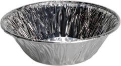 Zilveren Sb Ronde aluminium wegwerp cupcake /muffin bakvormen - 120 stuks -dia 6.5 cm x hoog 2 cm