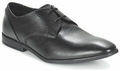 Zwarte Clarks Men's Bampton Lace Leather Derby Shoes - Black - UK 10 - Black