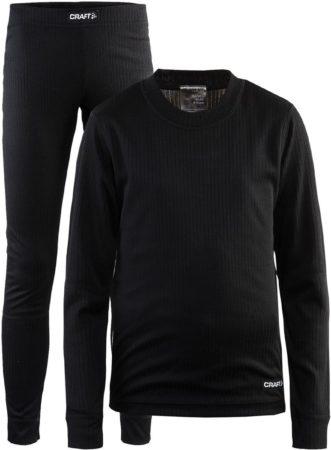 Afbeelding van Zwarte Craft Baselayer Set J 1905355 - Sportkledingset - Black - Kids - Maat 134