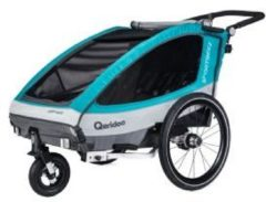 Qeridoo Sportrex2 Fahrradanhänger Modell 2018 aquamarin