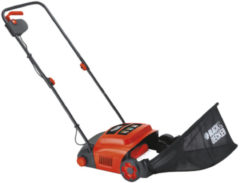 Oranje BLACK+DECKER GD300-QS Verticuteermachine - 600W - 30cm - incl. 30 liter opvangbak