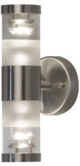 Konstsmide Bolzano 7595-000 Buitenlamp (wand) Energielabel: D (A++ - E) Halogeen GU10 70 W RVS