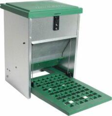 Olba Feedomatic Automatische Voerbak - Voerbak - 40x28x26 cm 5 kg Groen Metaal