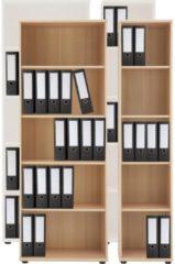 Regal Büroregal Bücherregal Aktenregal Ordnerregal Schrank Büromöbel Omegos 4 VCM Buche