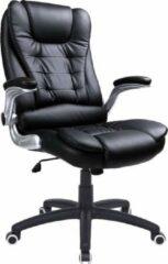MIRA Home - Bureaustoel voor volwassenen - Ergonomische bureaustoel - Kantoor - Pu-Kunststof - Zwart - 77x33x65