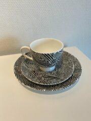 Witte Alperstein Designs ontbijtset - Pauline Napangardi Gallagher - Aboriginal collectie