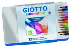 Pastelli Giotto Supermina Scatola in metallo 12 pezzi