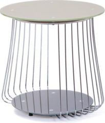 Inter Link Couchtisch Rivoli 50 cm Glas Pantone grau