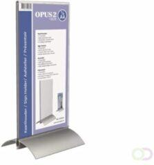 Transparante Kaarthouder T-standaard OPUS 2 1/3 A4 acryl/aluminium