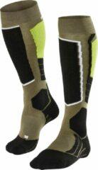 Falke - SK 2 - Skisokken maat 46-48, zwart/olijfgroen