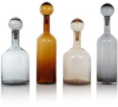 Grijze Pols Potten Bubbles & Bottles Chic Karaffen Set van 4