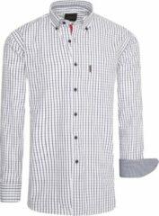 Cappuccino Italia - Heren Overhemden Regular Fit Overhemd Wit Checked - Wit - Maat 5XL