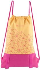 BiggYoga-Karma-Drawstring Yogatas-Roze Geel- Mat houder -33x47cm