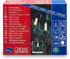Konstsmide 6004-100 Mini-lichtketting Buiten Energielabel: LED werkt op het lichtnet 40 LED Warm-wit Verlichte lengte: 8.85 m