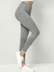 Grijze YOINS Solid Color Bodycon Sport Leggings