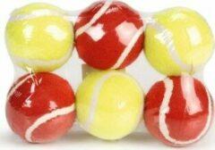 Rode Beeztees Tennisbal - Hondenspeelgoed - 6ST - 6,5 cm