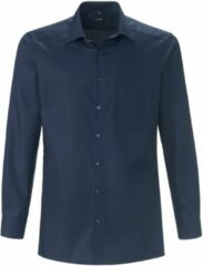Overhemd Modern Fit van 100% katoen Van Olymp Luxor blauw