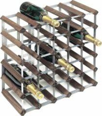 RTA Wineracks - Wijnrek Verzinkt - Dark oak - 30 Bottle Self Assembly 5x5