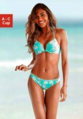 Blauwe Sunseeker push-upbikinitop »Ditsy«