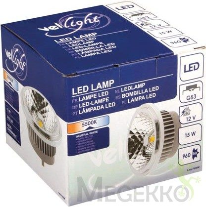 Afbeelding van Velleman VELLIGHT Led-Lamp Ar4111 - Cob - 15 W - 5500 K