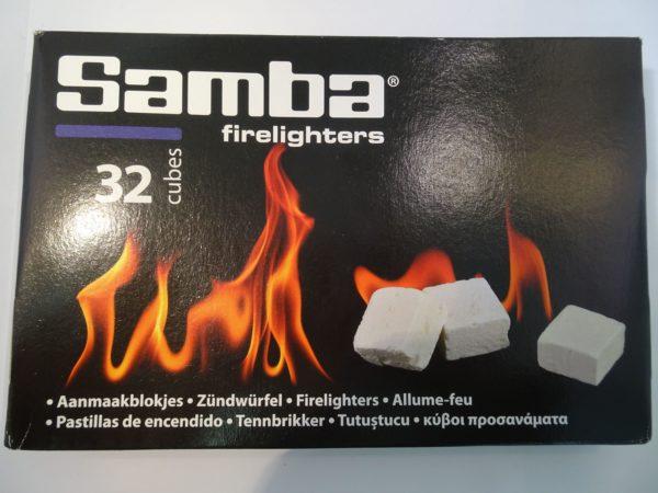Afbeelding van Samba aanmaakblokjes 32 stuks wit