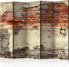 Oranje Kamerscherm - Scheidingswand - Vouwscherm - City History II [Room Dividers] 225x172 - Artgeist Vouwscherm
