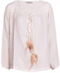 Witte Please Blouse feather off white wit