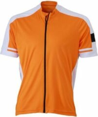 James & Nicholson James and Nicholson - Heren Fietsshirt met Full Zip (Oranje)