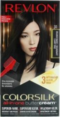 Bruine Revlon Luxurious Colorsilk Buttercream Hair Color 126.8ml - 30/20N Brown Black